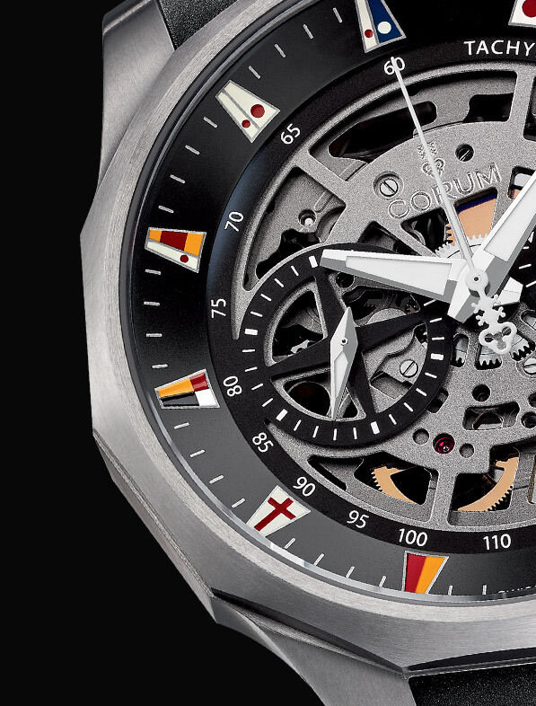 The integrated design of the watch exudes a dynamic style.