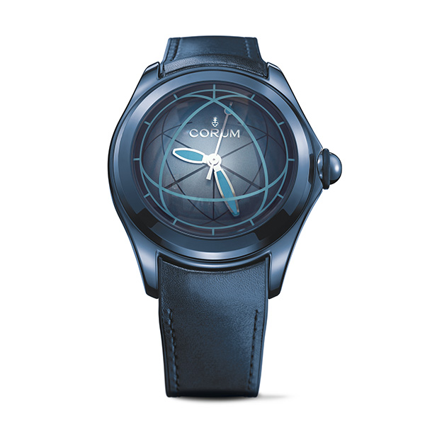 The Corum Bubble Op Art watch present a mysterious visual effect of a magic world of watchmaking.