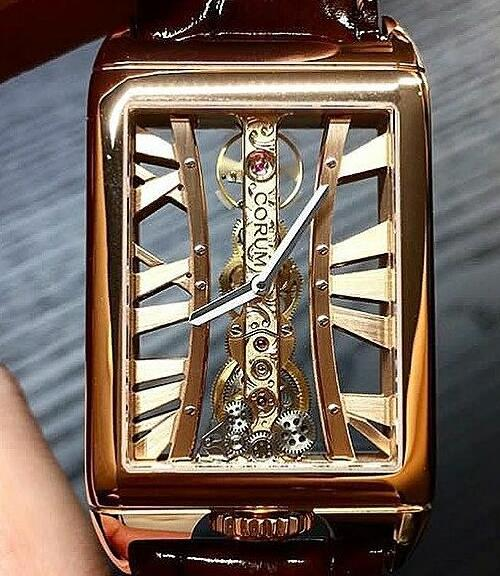 The skeleton dial allows the wearers to view the movement clearly.