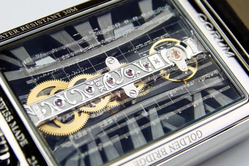 The patented linear movement embodies the high technology and prominnt craftsmanship of the brand.