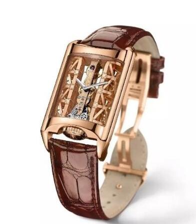 The rose gold Corum will fit the mature men perfectly, enhancing the charm of the gentlemen.