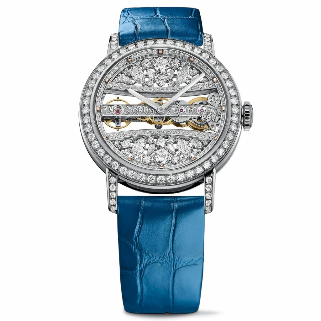 With the blue leather strap, the Corum looks elegant and mild which will fit mother's temperament perfectly.
