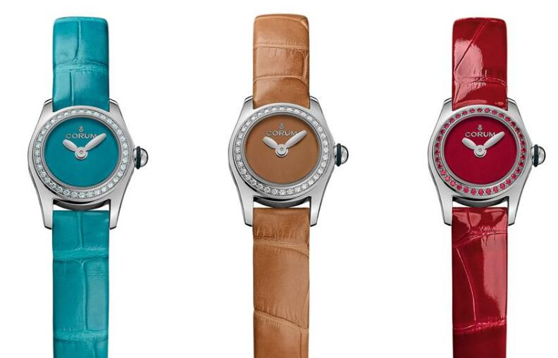 The 17 mm Corum watches are especially designed for ladies with the colorful elements.