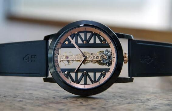 Corum has adopted the different case with innovative material.