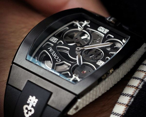 The movement could be viewed through the open-worked dial.