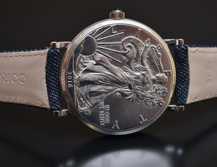 Each model of the coin watches has been engraved by hand to ensure the perfection.