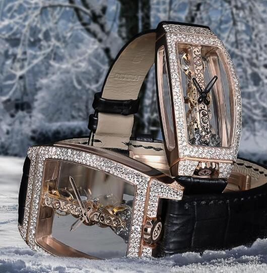 These two shiny Corum will be good presents for the coming Valentine's Day.
