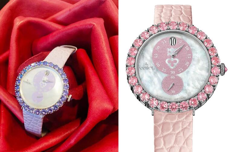 The integrated design of the Corum is elegant and romantic.