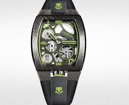 The green elements add the dynamic touch to the model.