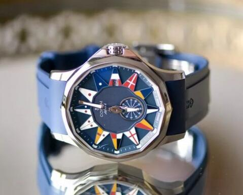 The international flags make the timepiece more recognizable.