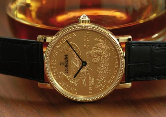 These gold coin watches could be considered as a symbol of an era of Corum.